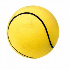 Rubber dog ball with 9 cm yellow
