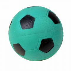Rubber dog ball with 9 cm green