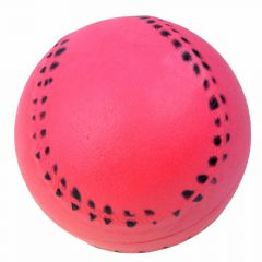 Rubber dog ball with 9 cm red