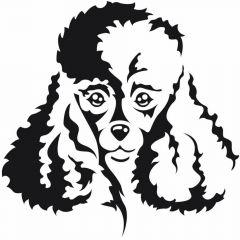 Dog sticker poodle for the groomer or the car