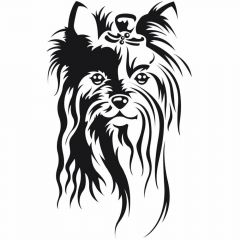 Dog sticker Yorshire terrier for the pet grooming and Yorky lovers
