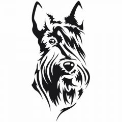 Dog sticker Scottish terrier for the pet grooming and dog lovers - dog hairdressing