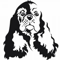 Dog sticker Cocker Spaniel - dog groomer needs