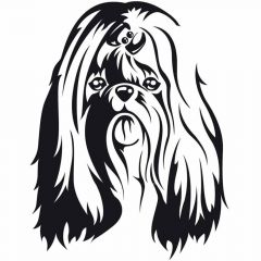 Dog sticker Shih Tsu for the pet groomer and dog lovers
