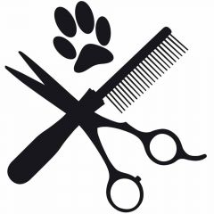 Pet grooming sticker dog hairdressing