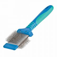 Vivog Double Sided Slicker, dog brush, dog slicker, soft slicker brush, slicker brushes, dog grooming equipment,