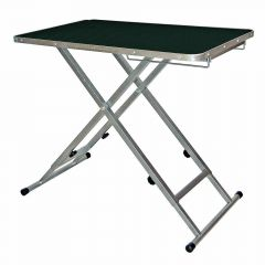 Mobile and height-adjustable grooming table
