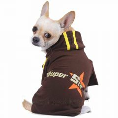 DoggyDolly W030 - super star dog sweater brown
