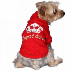 Warm dog pullover for winter red at Onlinezoo.at