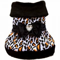 Luxury dog dress snowy leopard - DoggyDolly W054