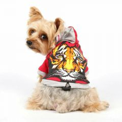 Warm dog pullover of DoggyDolly with tiger head