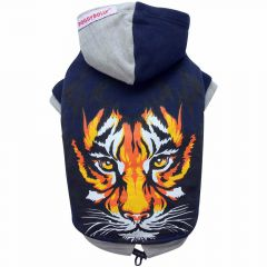 DoggyDolly W081 - dog pullover with hood and tiger