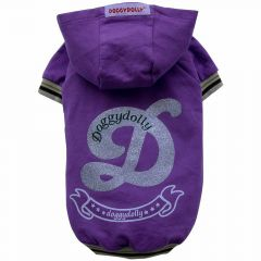 Purple hood sweaters for dogs of DoggyDolly W111