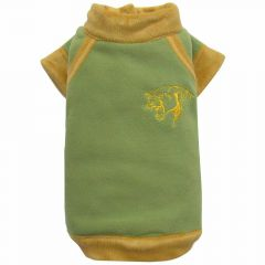 Fleece dog jacket green with panther head DoggyDolly W196