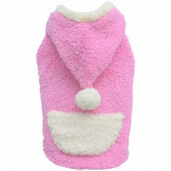 dog coat Pink hooded by DoggyDolly W212