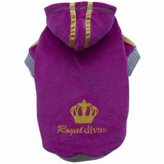 purple dog sweater Royal Divas of DoggyDolly