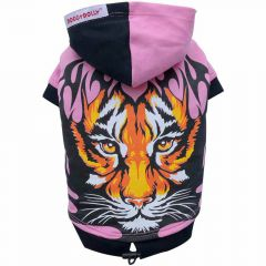 Dog clothes - Dog sweater pink tiger head
