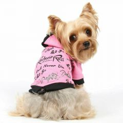 Pink Rock and Roll dog sweater