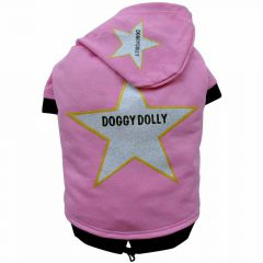 DoggyDolly Star dog pullover pink