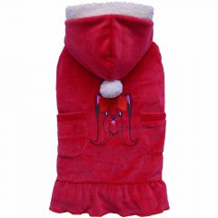 red luxury dog dress by DoggyDolly dog dog fashion
