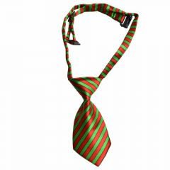 Tie for dogs red green striped by GogiPet