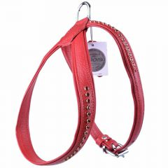 Swarovski ruby dog harness