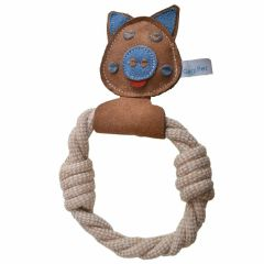 Dog toy - GogiPet ® piggy made of natural, sustainable raw materials