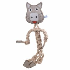 Dog toy grey wolf 44 cm of GogiPet ®