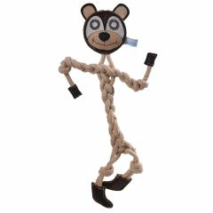 Dog toy teddy bear made from natural, sustainable raw materials from GogiPet ®