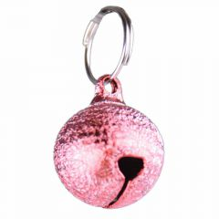 Cat bell silver pink