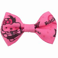 Handmade dog bow Hello Kitty by GogiPet pink
