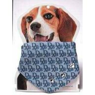 Blue dog collar adjustable as neckcloth with collar of 28 -45 cm.