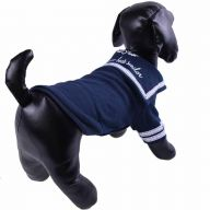 Warm sailors dog sweater blue