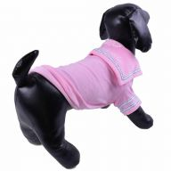 Warm sailors dog sweater pink