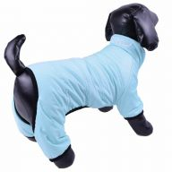 Snow suit for dogs baby blue with 4 legs