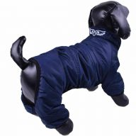 Snow suit for dogs dark blue with 4 legs