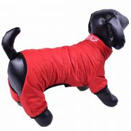 Snow suit for dogs red with 4 legs