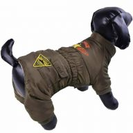Warm dog clothes - Air Force green