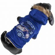 Warm anorak for dogs - dog clothes blue