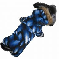 Snowsuit for dogs with 4 sleeves blue