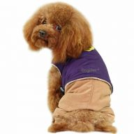GogiPet ® dog garb for the winter - purple dog jacket with brown dog pants