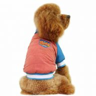 Warm dog jacket - red sports jacket for dogs for the winter