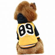 GogiPet dog jacket yellow - warm Baseball dog jacket for winter