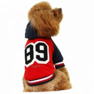 Red Baseball dog jacket for the winter 89 - GogiPet dog clothes