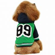 Green baseball dog jacket for the winter 89 - GogiPet dog clothes