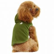 GogiPet ® double fleece dog sweater Green - Olive