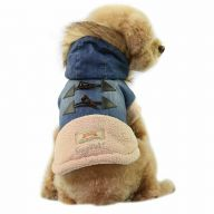 High-quality warm dog clothes - Denim Jeans dog fashions jacket with hood