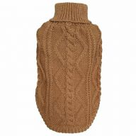 Brown knit sweater for dogs