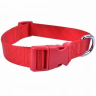 GogiPet ® nylon dog collar adjustable size red 45 cm