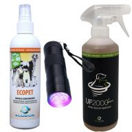 Urine Combination Package + Stain Detector UF2000 Urine Remover, Ecopet Odour Remover and EcoLight Urinfinder the powerful urine control package
